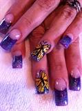 mix glitter w/ butterfly