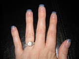 Blue French Angel Love Gel Nails