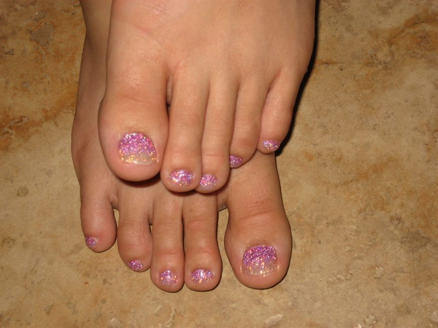White to pink fade rock star toes nail art gallery prinsesfo Image collections