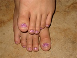 White to Pink Fade Rock Star Toes