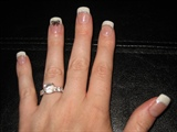 White Glitter French with Butterfly