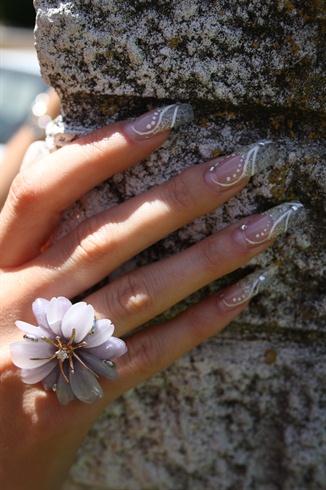 Gold Glitter Sculptured Nails
