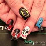 Batman Nail Design