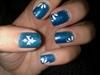 glitter blue w/ petal design