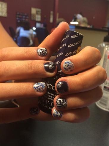 Nevada Wolf Pack Nails Nail Art Gallery