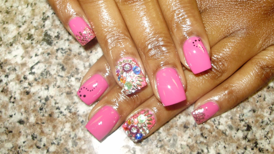 Pinky with Junk nails - Nail Art Gallery