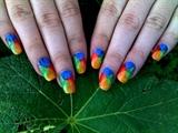Rainbow pinwheels ;P