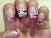 Pink, Zebra print w diamonds