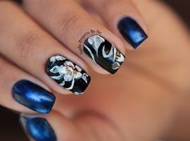 nail art: floral nas unhas