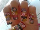 4 colors nail art