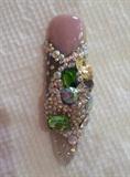Emeralds Nail-keys chain