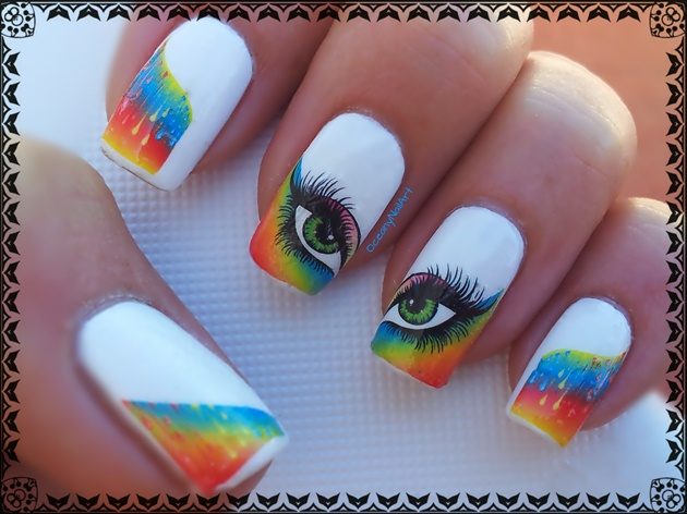 Rainbow eyes decals