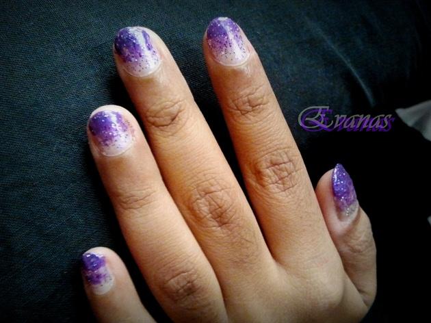 Shimmery purple gradient