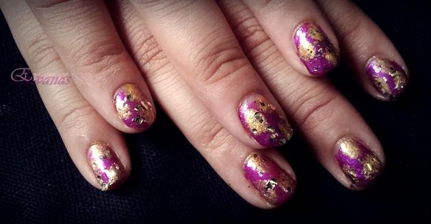 Party Purple nail art