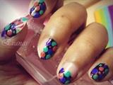 Baby pastel polka dots nail art