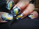 The galaxy nail art