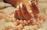 Baby pastel polka dots : pearl version