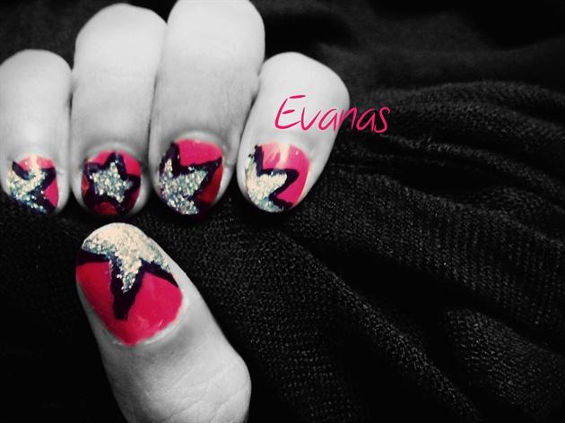 Star line nail art
