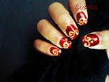 Red royale nails