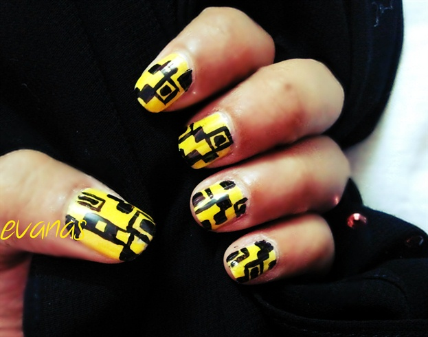 Yellow coded nails