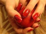 Twilight freehand nail art
