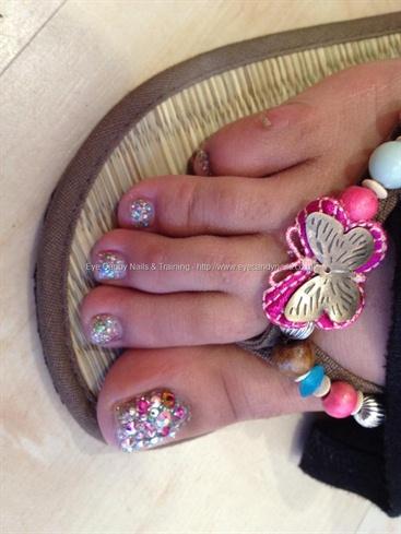 Swarovski crystal toes cyber dust gel