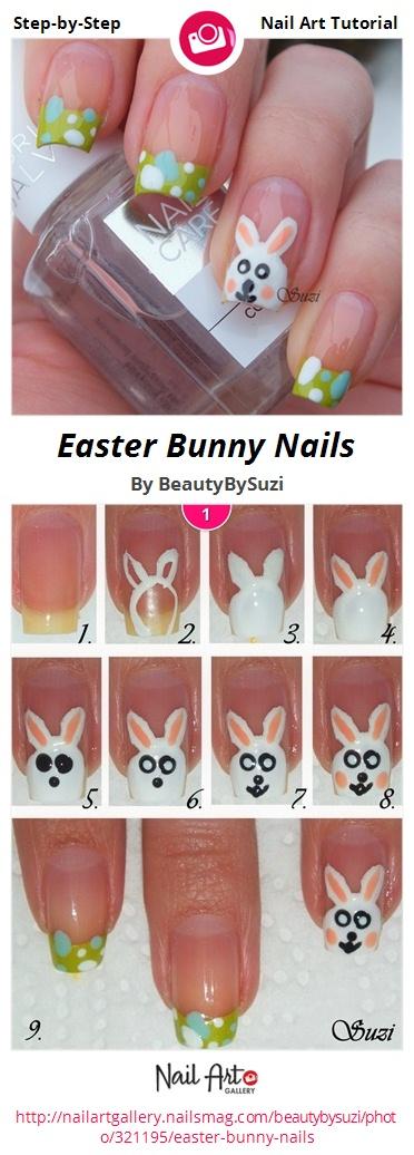 Easter Bunny Nails - Nail Art Gallery