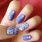 Simple Purple Manicure