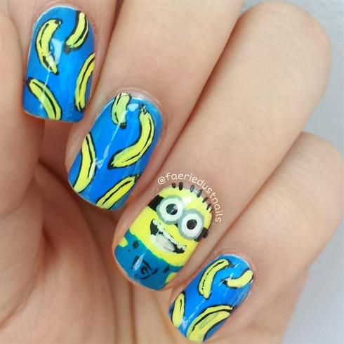 Minion Banana Nails