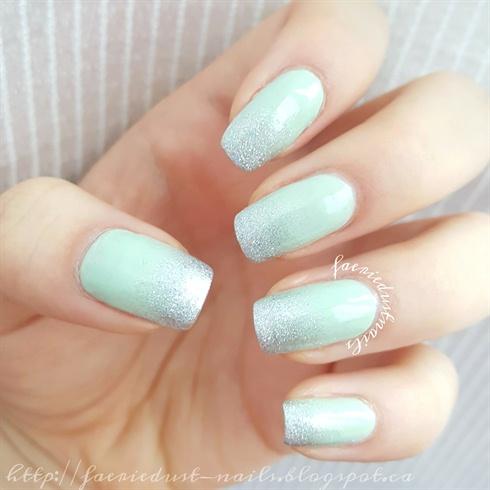 Mint Glitter Gradient