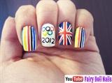 London Olympics 2012 Nail Art