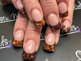 Fall Glitter Tips