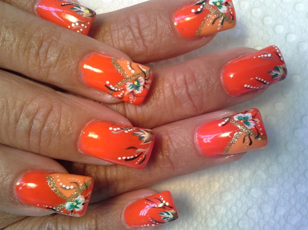 Bright orange french.