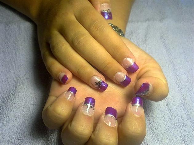 purple nails for purple hair