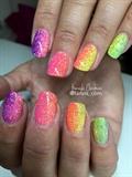 Rainbow glitter ombre