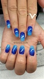 blue glitter ombre
