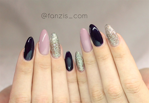 Three Colors Combination Nail Art Gallery