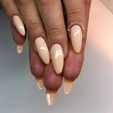 nude sand glitter