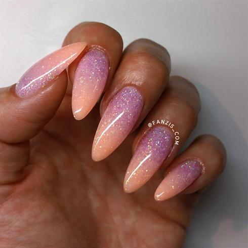 Fresh glitter ombre