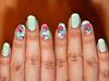 flora#nail design#green