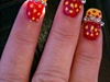 Fun Yellow and Red Dots With Beads