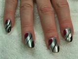 silver, black & burgundy