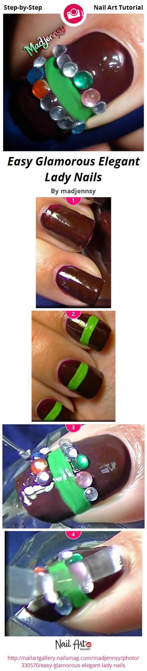 Easy Glamorous Elegant Lady Nails - Nail Art Gallery