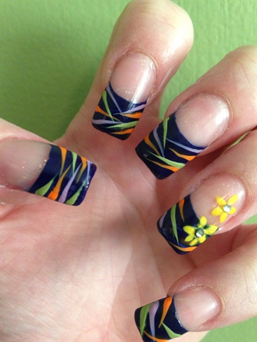 Stripes & Spring Flowers