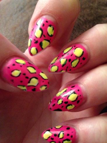 Neon Cheetah  Stiletto