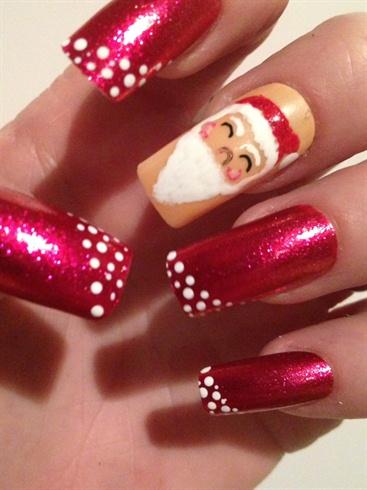 Santa Claus Christmas Nails