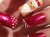 Santa Claus Christmas Nails