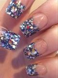 Hand Made Glitter Tips