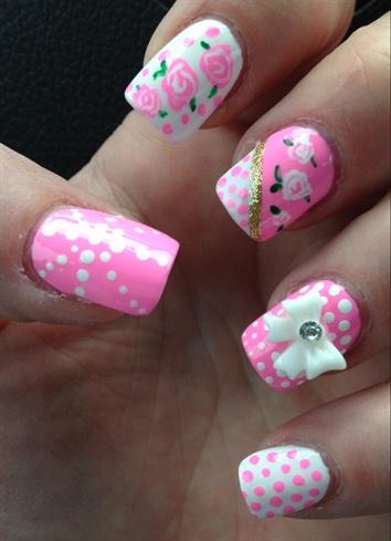 Polka Dots & Roses Very Feminine!