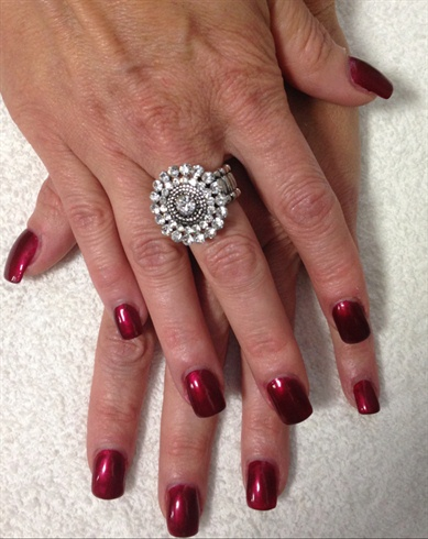 Classic Red With Opi Polish